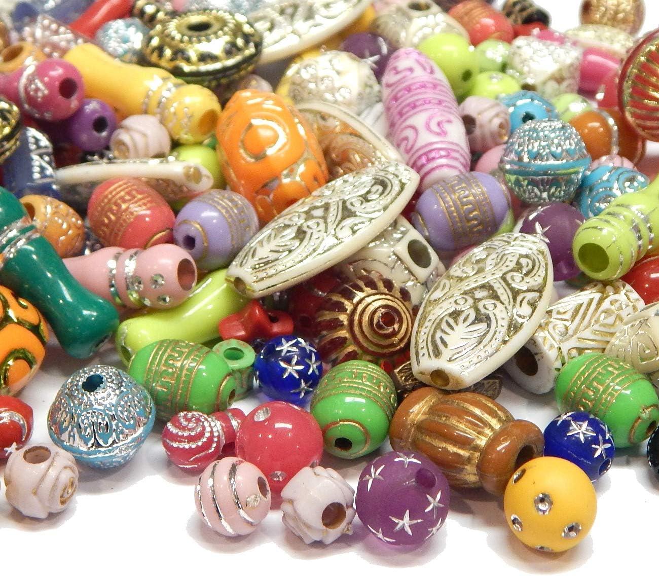 100 g de perlas de plástico mezcla de perlas brillantes efecto purpurina perlas multicolor Mix diseños perlas acrílicas Set Perlas para enhebrar Juego de manualidades R385 x2