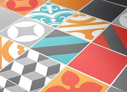 Adesivi per piastrelle confezioni con 50 piastrelle pavimento