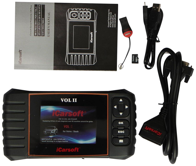 iCarsoft VOL II- Volvo/SAAB OBD-II Scanner Tool i906-II New