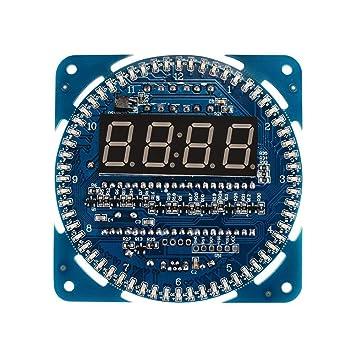 DollaTek DIY DS1302 Giratorio LED Reloj Digital electrónico 51 SCM Learning Board 5V: Amazon.es: Electrónica