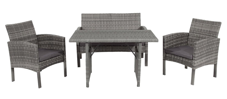 rattan garten sitzgruppe piura mit hohem esstisch bequeme sofas g nstig kaufen. Black Bedroom Furniture Sets. Home Design Ideas