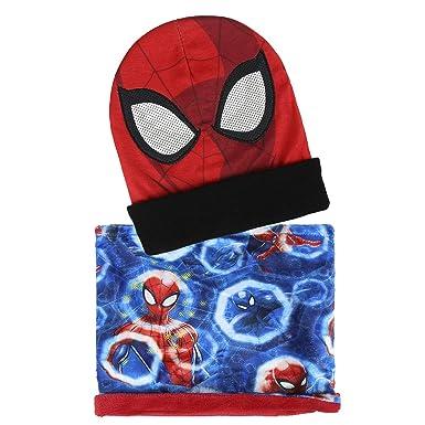 Spider-Man Lot composé de bonnet + tour de cou + gants, motif Spider-Man et  Avengers, pour enfants de 3 à 7 ans, bleu - rouge - Taille Unique   Amazon.fr  ... 1133183c6d9