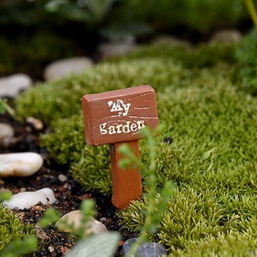Etiquetas de resina para plantas, tablero de resina, hadas, jardín, miniatura, manualidades, decoración de microhuertos para manualidades de resina, café, style 2: Amazon.es: Jardín