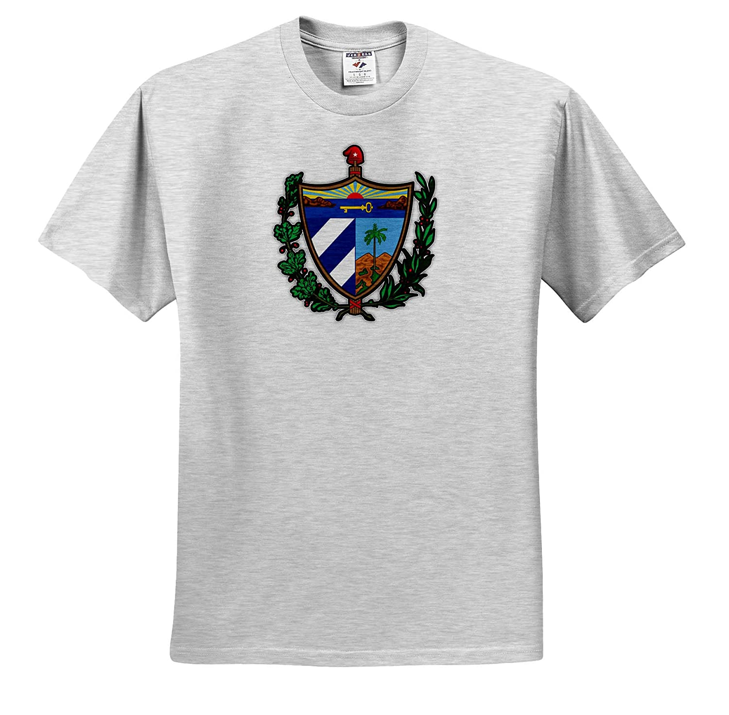 Cuba Coat of Arms National Symbol Icon Illustrations Adult T-Shirt XL 3dRose Carsten Reisinger ts/_319539