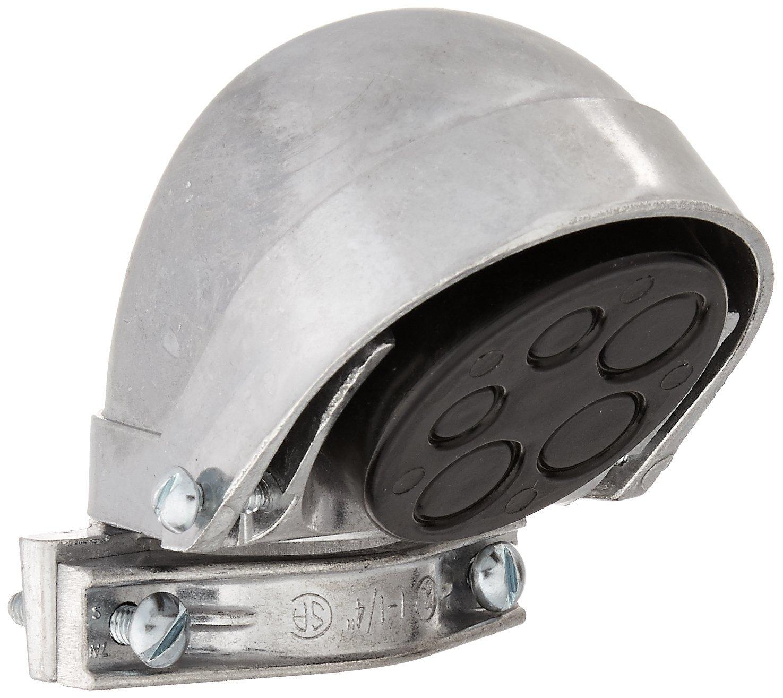 Hubbell-Raco 2405 EMT or Rigid/IMC Clamp Type Aluminum Entrance Head, 1-1/4-Inch