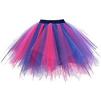 DresseverBrand Damen Petticoat 50er Rockabilly Jahre Retro Tutu Ballet Tüllrock Cosplay Crinoline