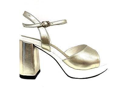 Sandalo Plateau Hammer Dream Oro Sandali Cerimonia Donna