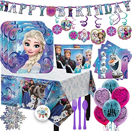Amazon.com: Frozen - Pack de 16 servilletas con platos ...