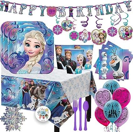 Amazon.com: Frozen - Pack de 16 servilletas con platos ...