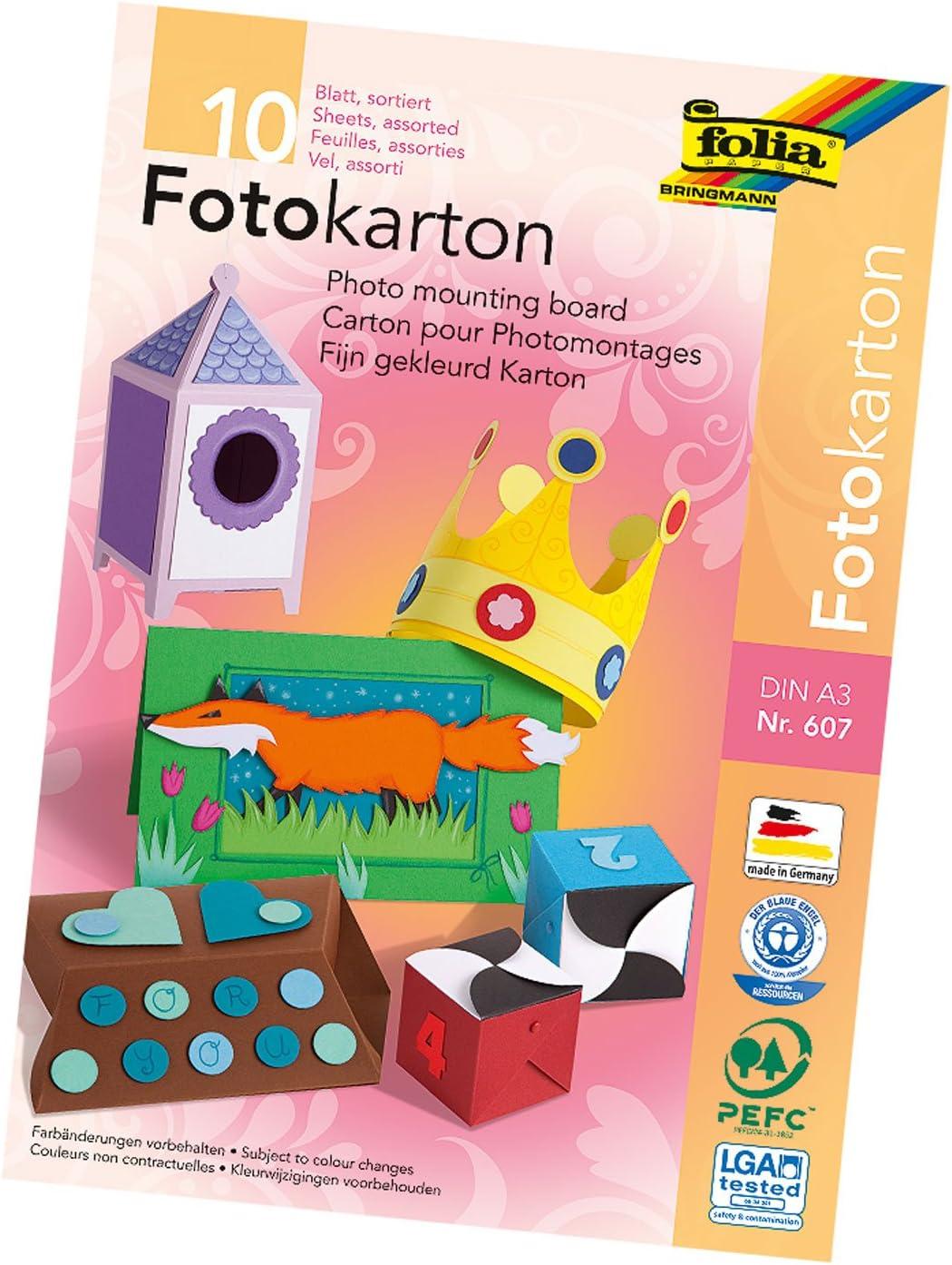 itenga Fotokarton DIN A4 300 g//qm rot 25 Blatt Bastel Zeichen Papier Ton Karton