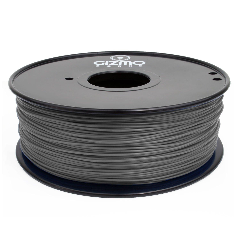 Gizmo Dorks 1.75mm PLA Filament 1kg 2.2lb for 3D Printers Color Change Gray to White