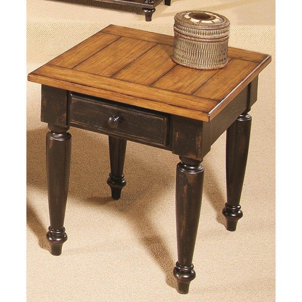 Amazon.com: Progressive Furniture 44542 04 Country Vista End Table, Antique  Black And Oak: Kitchen U0026 Dining