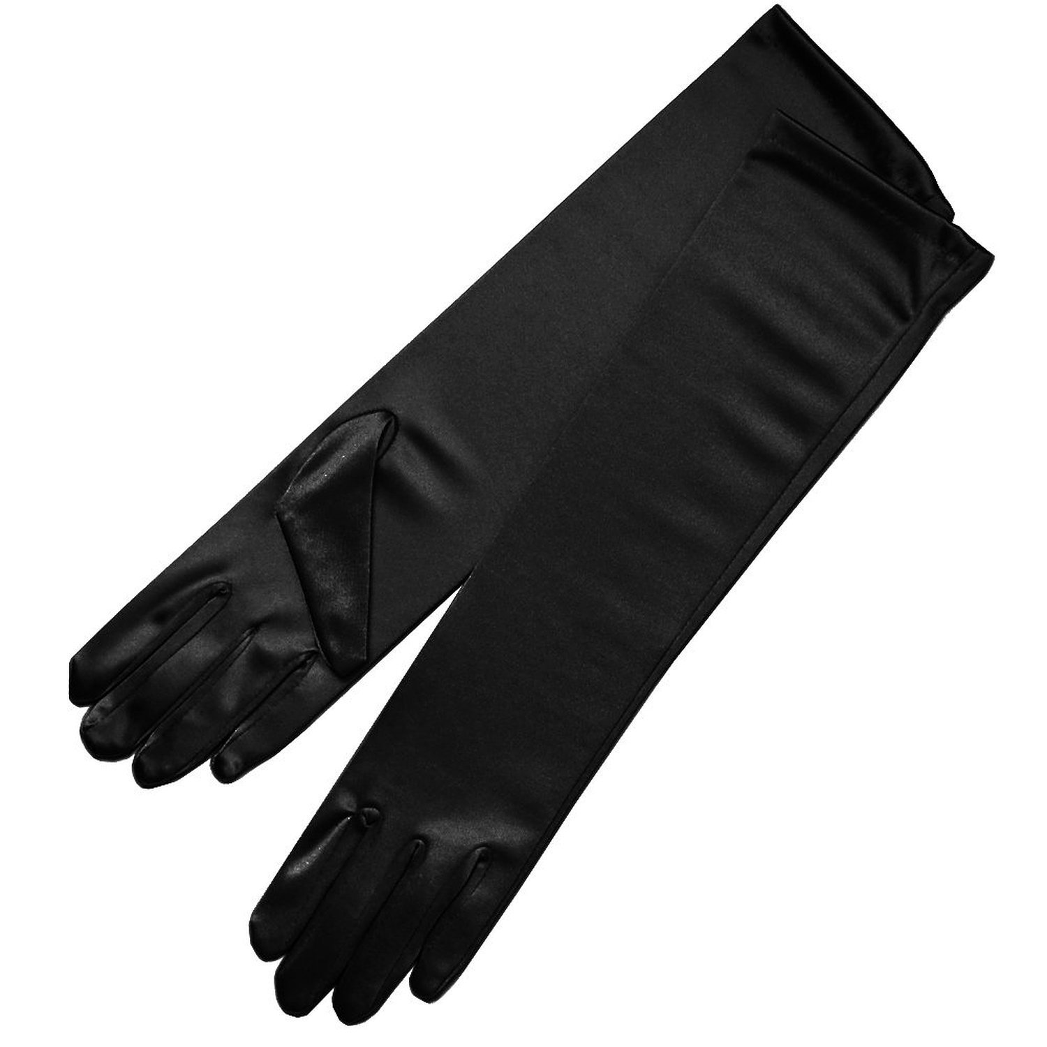Ladies leather gloves navy - Zaza Bridal 15 5 Long Shiny Stretch Satin Dress Gloves Below The Elbow Length 8bl