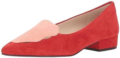 e48710d23e6 Cole Haan Women s Leah Skimmer Ballet Flat Aura Orange Coral Almond Suede  5.5 ...