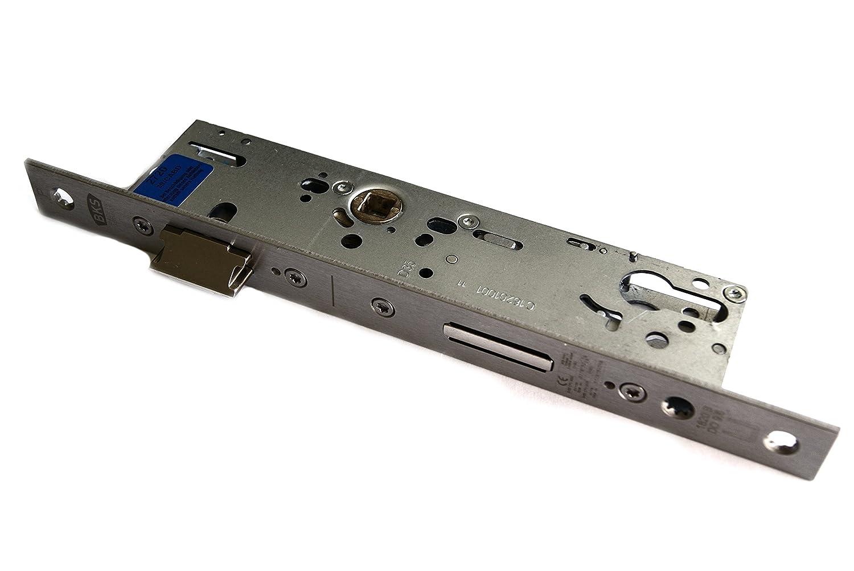 BKS BKS RR-Panikschloß 18200, Pz gel. Links,9mm geteilter Nuß, Dorn 35mm, Entf.92mm Stulp 24x270mm kantig, Fkt. B; Nr. B-18200-01-L-8, B-18200-01-L-8