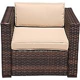 Amazon Com Outdoor Rattan Set 9 Pcs Sofa Wicker