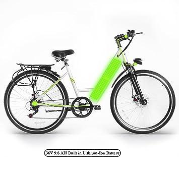 FastDirect Bicicleta Eléctrica de Montaña E-bike Shimano 6 velocidades Batería de Litio Motor brushless