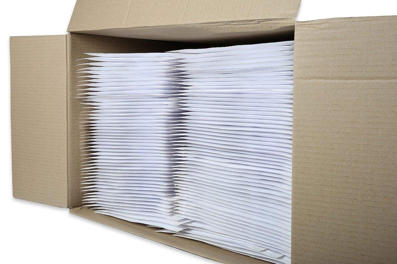 500 St/ück D//4 Wei/ß Versandtaschen Luftpolstertaschen ECO/® mit Trifixverschluss 200 x 275 mm