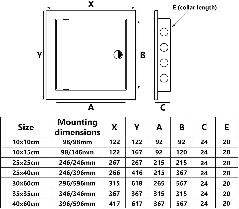 300x600mm Panneau Trappe Inspection Porte Acces Haute Qualit/é Plastique ABS