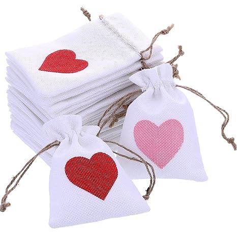 20 Piezas de Bolsitas de Cordón de San Valentín Bolsitas de ...
