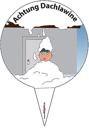 Cartel para fijar., Atención techo Avalancha, prohibición de ...