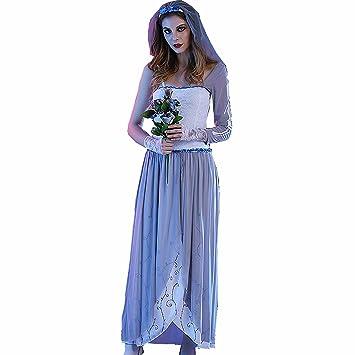 Jysport Halloween Kostum Cosplay Fasching Kleid Damen Zombie Leiche