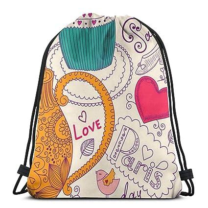 3089a479ccab Amazon.com: Classic Paris Unisex Drawstring Beam Port Bag,Fashion ...