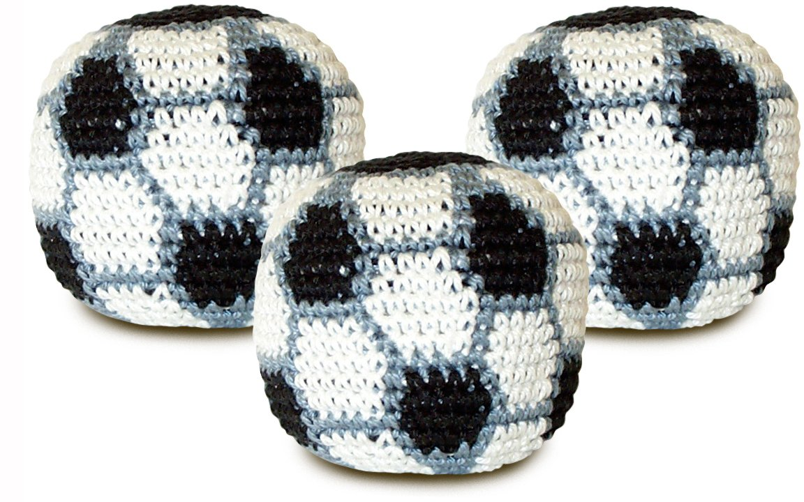 World Footbag Soccer Hacky Sack Footbag 3 pack by World Footbag