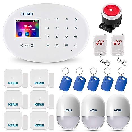 KERUI W20 WiFi/gsm Control de Sistema de Alarma de Seguridad para el Hogar vía Call/SMS/App (iOS y Android) Kits de Sistema de Alarma Antirrobo con ...
