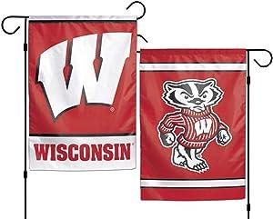 NCAA University Wisconsin Badgers 12x18 Inch 2-Sided Outdoor Garden Flag