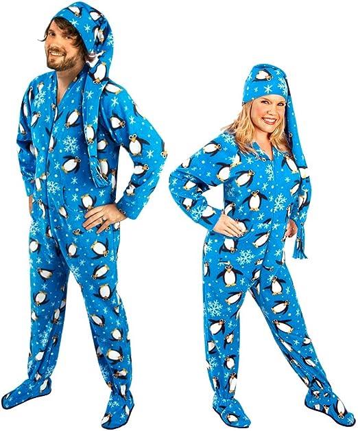 Amazon.com: Polka Dot Adult Footed Pajamas with Drop Seat