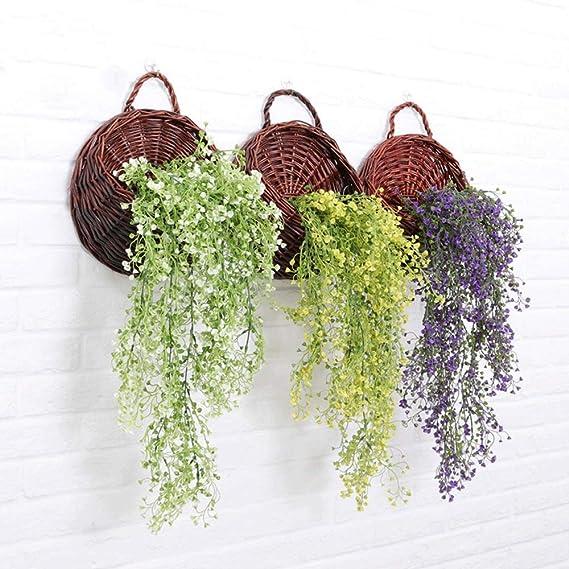 YDDZ Plantas Artificiales 1pcs × 75cm Flores Artificiales Vine ...