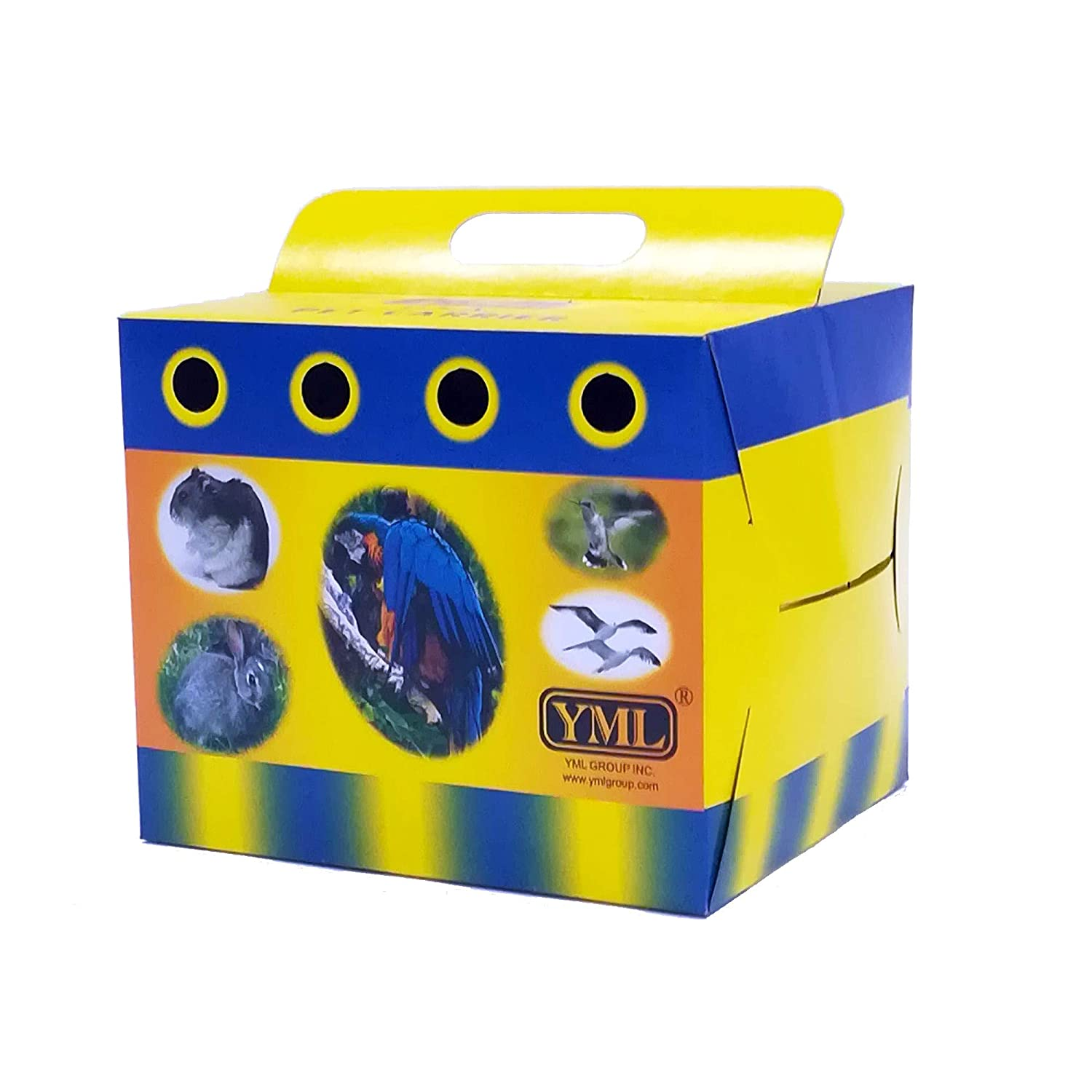 YML Cardboard Carrier for Small Animals or Birds, Medium, Lot of 100 YML GROUP INC 8102