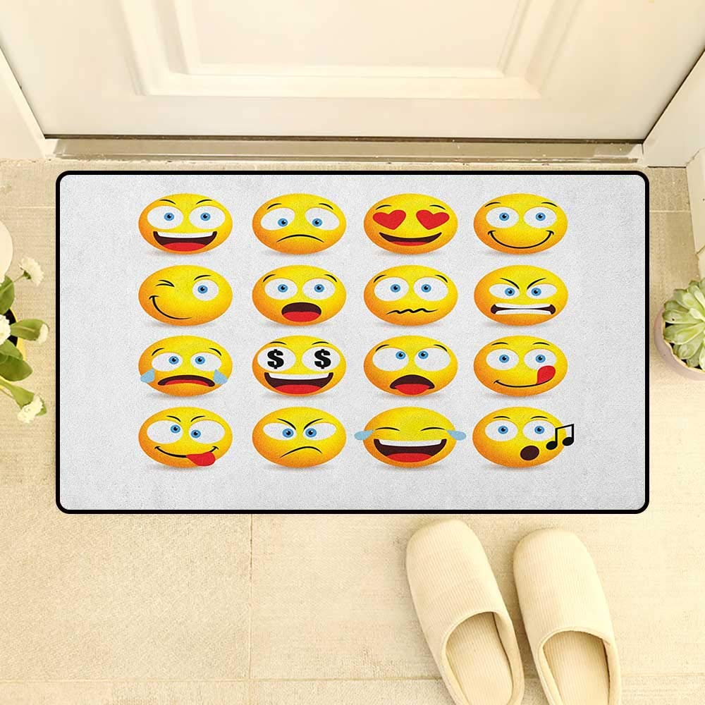 Amazon com: Emoji Bath Mat for tub Smiley Faces Collection