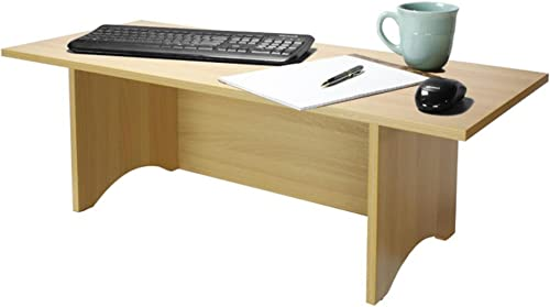 Miracle Desk Stand Up Desk – Convert a Regular Desk to Standing with Ease – Perfect for Executives, Professionals, Teachers, and Home Offices Golden Beech, Regular
