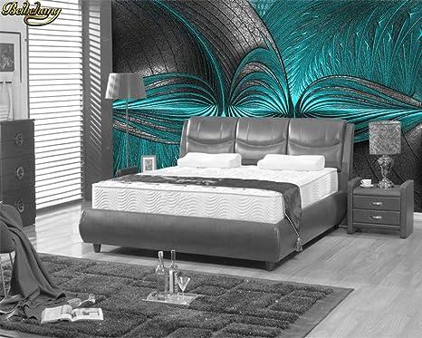 Camera Da Letto Parete Turchese : Addflower soggiorno camera da letto carta da parati d moderno