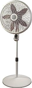 "Lasko 1885 18"" Cyclone Pedestal Fan with Remote Control, 18 inches White"