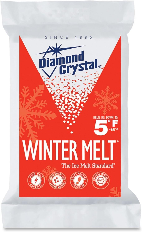 Diamond Crystal Halite Rock Salt Ice Melter 25 Pound Bag