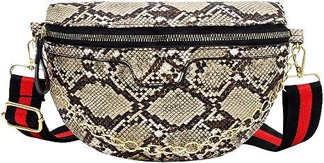 HoSayLike Bolso De Hombro De Piel De Serpiente para Mujer