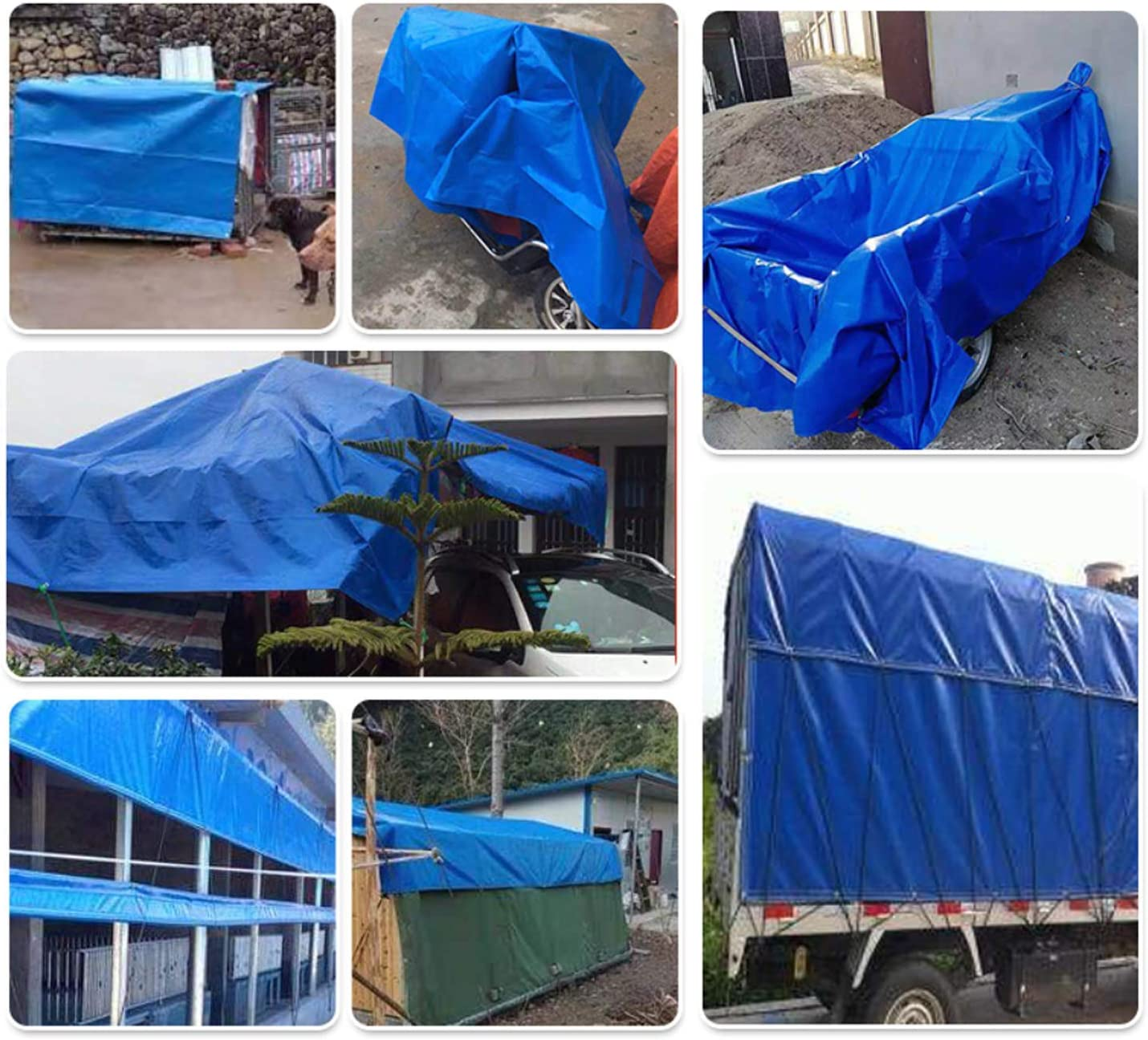 MAX Sell Heavy Duty Tarps Cover 12x16 Feet Blue 5 Mil Durable PE Tarpaulin Cover with Rope