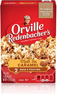 product image for Orville Redenbacher's Melt On Caramel Microwave Popcorn (2 Bags and Pouches), 11.57 oz