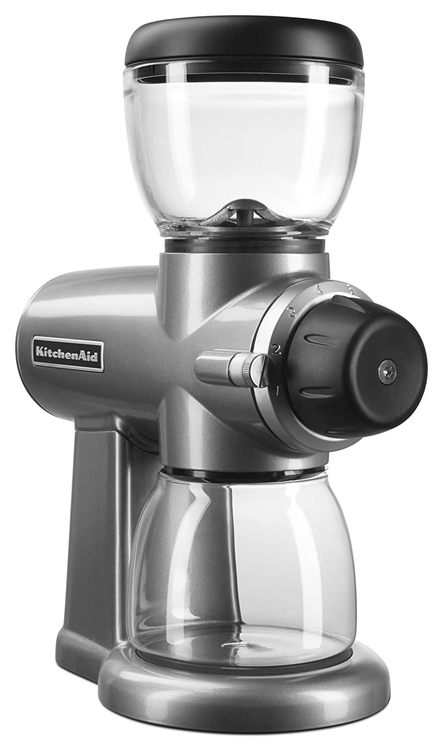 kitchenaid coffee grinder. amazon.com: kitchenaid kcg0702cu burr coffee grinder, contour silver: beauty kitchenaid grinder u