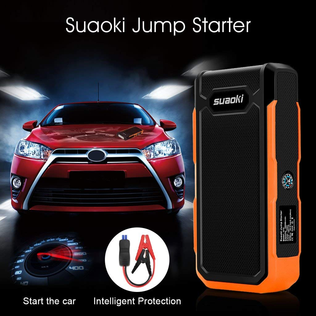 LCD Display and LED Torch for Laptop Smartphone Tablet and Much Meh SUAOKI Car Jump Starter 800A Peak 20000mAh Jump Starter External Battery Charger with Compass