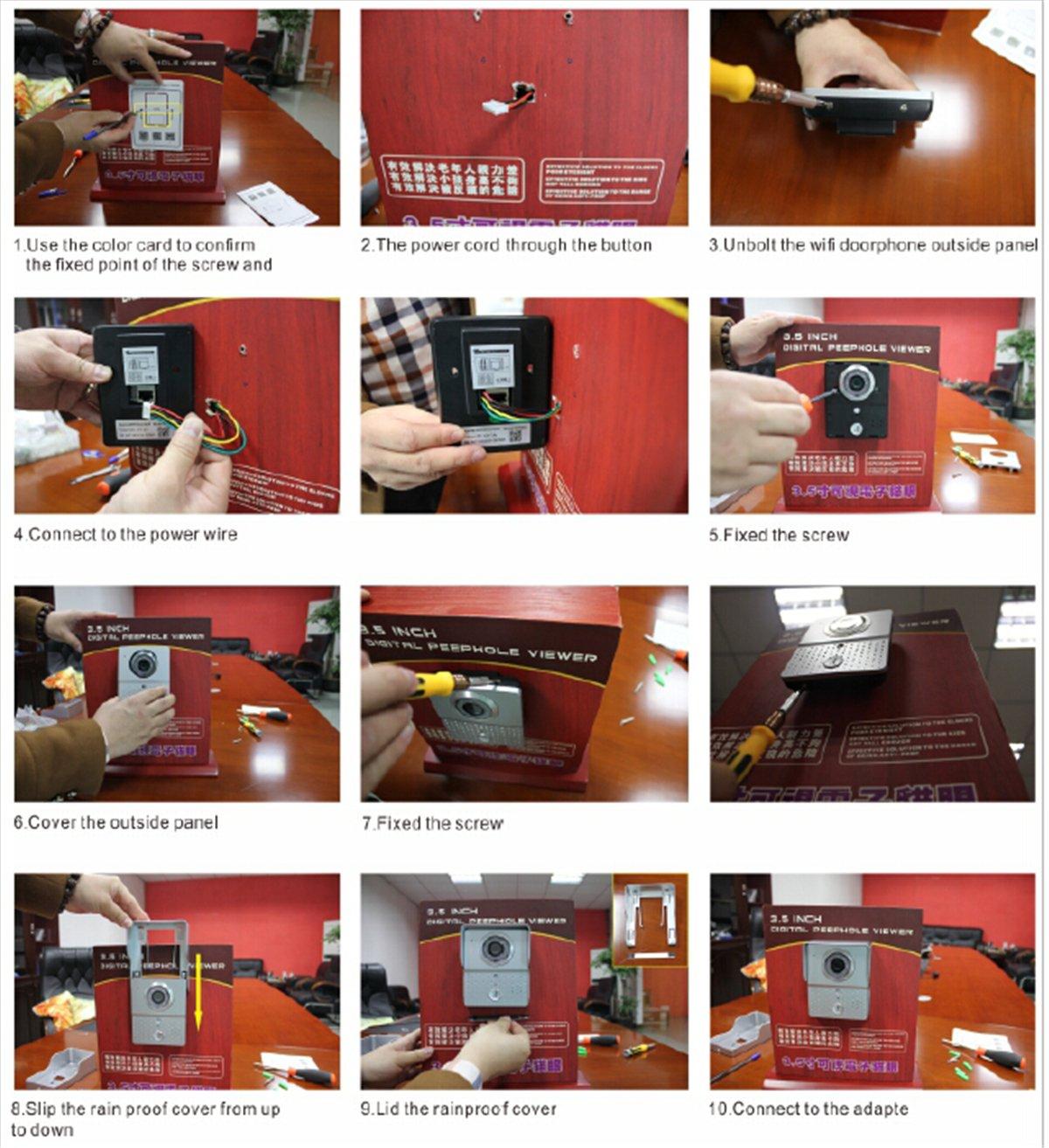Lelec Wireless Wifi Door Bell Camera Intercom Detection Smartphone Iphone Chime Wiring Diagram Control Security Diy Tools