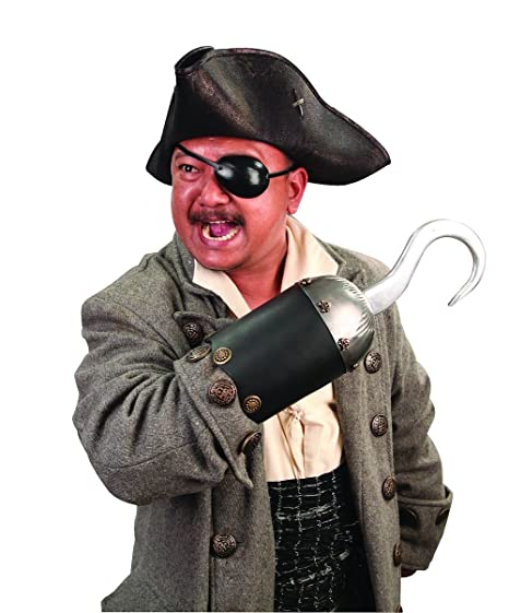 Deluxe Adult Costumes - Men's Museum Replicas pirate captain hook metal and leather costume accessory