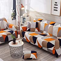 Sofa Cover for 1/2/3/4 Seater with Various Printed and Size 3 Seater Sofa Cover 2 Seater Couch Stretch Armless Sofa…