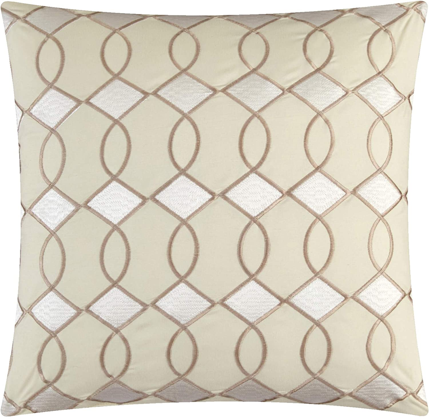 Chic Home Katrin 20 Piece Comforter Color Block Geometric Embroidered Bag Bedding-Sheet Set Pillowcases Window Treatments Decorative Pillows Shams Included King Beige