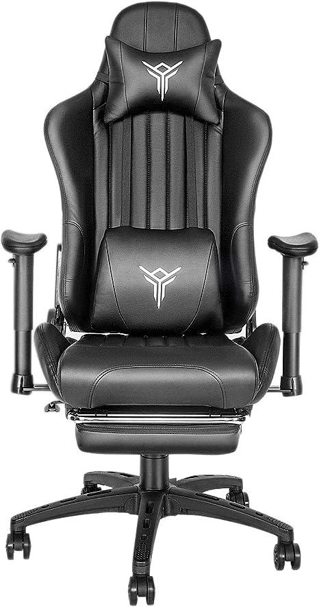 avec Repose-t/ête pivotante YU YUSING Chaise de Bureau Ergonomique Chaise de Direction Blanc r/églable en Inclinaison Repose-Pieds accoudoirs r/églable en Hauteur Chaise PC en Filet