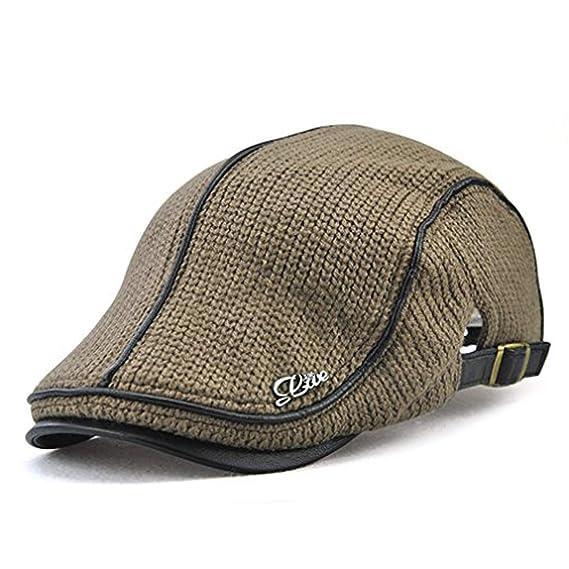 LAOWWO Baschi Scozzesi Berretto Uomo Vintage Cappello a Maglia Regolabile  Berretto Piatto  Amazon.it  Abbigliamento 609cd8f7aee2