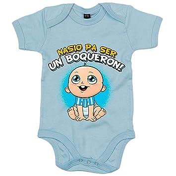 Body bebé nacido para ser un Boquerón Málaga fútbol - Azul ...